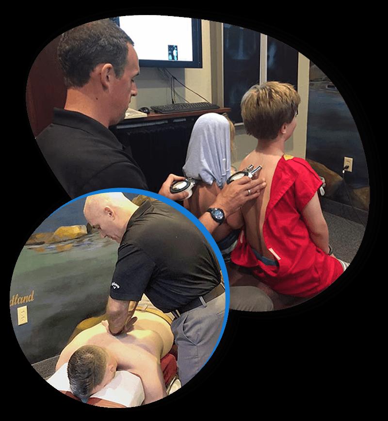 Chiropractor Eden Prairie MN Ian McNeil and Troy Boschee with Patients